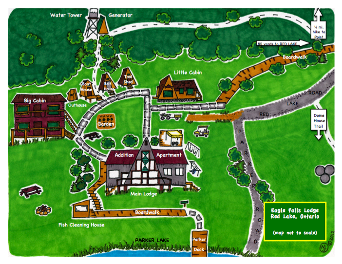 Eagle Falls Lodge Map