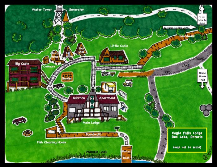 Eagle Falls Lodge Map